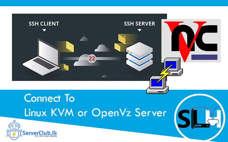 How To Connect To Linux KVM or OpenVz Server