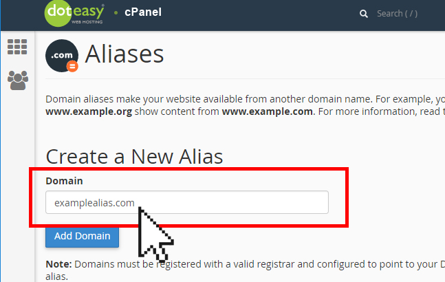 How to set up a Domain Alias in cPanel